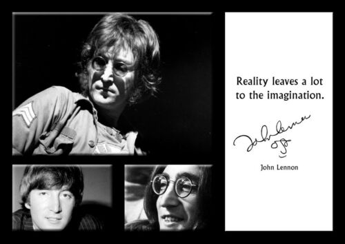 John Lennon 20 English Singer Poster Motivation Quote Black and White Picture