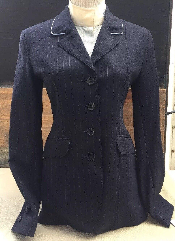 Herve Godignon Ladies Show Coat, Navy, Size 10 (Euro  40)  brand outlet