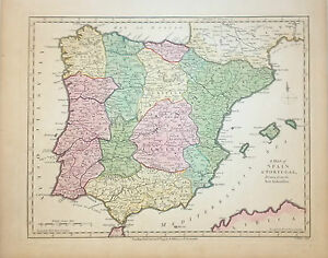 Map Of Spain Catalonia.Details About 1794 Wilkinson Map Of Spain Portugal Castille Aragon Catalonia Biscay Andalusia