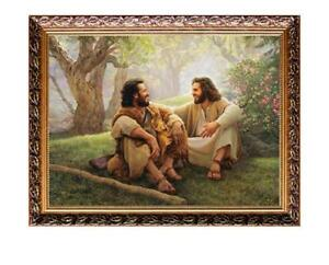 D145-Catholic-Christian-Holy-Religion-Framed-Painting-Picture-Jesus-Christ-M