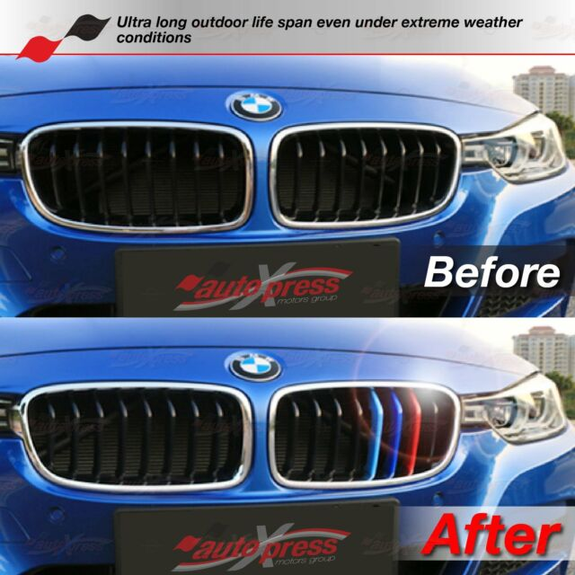 M-Power 7 BARS Kidney Grille 3 Color Cover Insert Clips