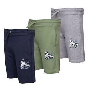 Garcons-Argent-Elegant-Confortable-Imprime-Short-molletonne-Tailles-Age-De-7-To-15-ans