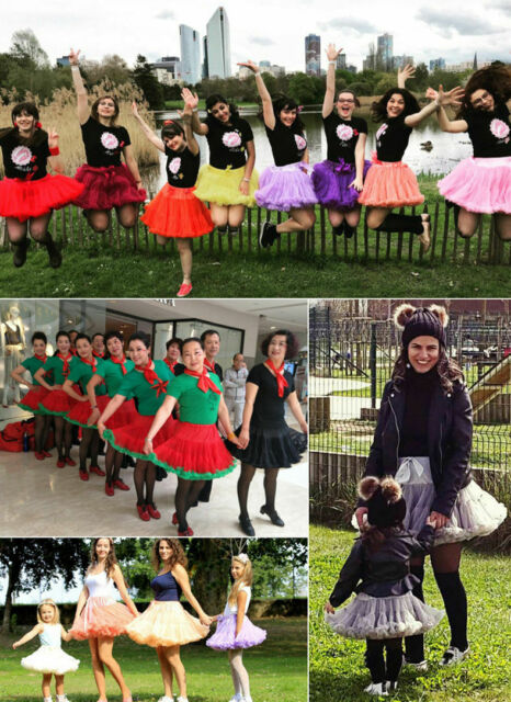 Girls Kids Women Tutu Skirt Dance Petticoat Party Dress Ballet Fluffy Layer UK