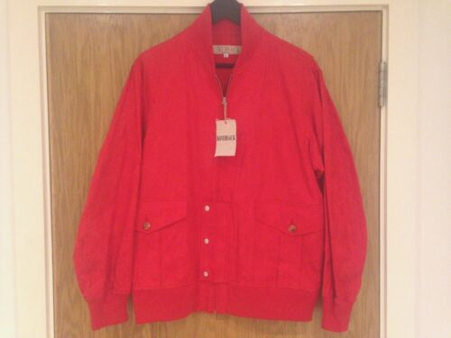 100 Haversack Bnwt £ rosso 475 Rrp medio design floreale cotone da Cappotto di uomo Hf86xnW