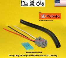 Kubota Tractor Engine Fuel Cut Solenoid Connector Plug Repair Pigtail 3 Wire