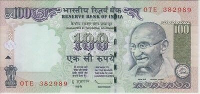 UNC HISTORIC  5  RUPEES GHANDI SERIES NOTE INDIA  BANKNOTES DATE  2011