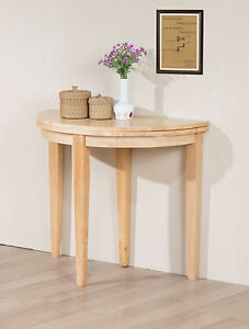 Image Is Loading Hall Table Dining Table Side Round Folding Half