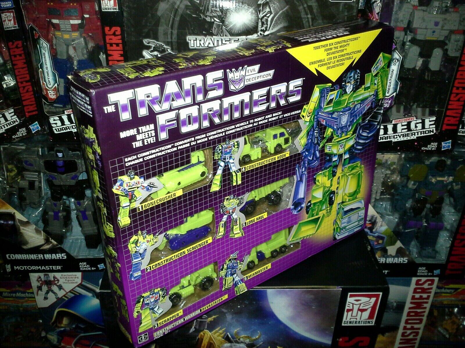 Transformers G1 Constructicon Devastator Nuevo Set