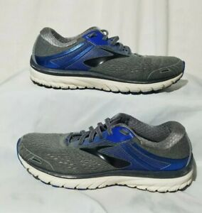 cf2fc5dff97f9 BROOKS ADRENALINE GTS 18 Mens Gray Black Blue Running Athletic Shoes ...