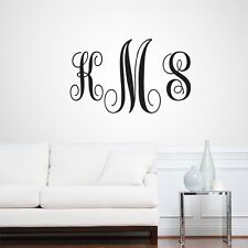 Full Name Fancy Monogram - Personalized Custom Monogram Wall Decals