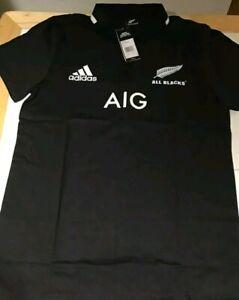 Tipo delantero comunidad picnic  Adidas Nueva Zelanda All Blacks Polo Jersey Rugby 2019 medio   eBay