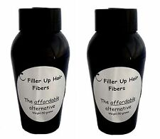 LIGHT BLOND 2-50g Bottle Filler Up Hair Building Fibers  LOW COST SUBSTITUTE USA