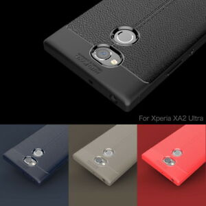 For-Sony-Xperia-XZ2-XA2-XA1-Ultra-Shockproof-Leather-Soft-Rubber-TPU-Case-Cover