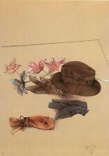 """Bruno Bruni, """"Stilleben mit Hut und Orchidee"""", 1984 Lithografie, handsigniert"""