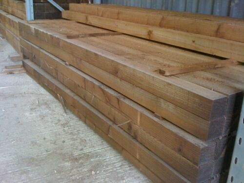 """10ft Treated fence posts 3/"""" x 3/""""  75mm x 75mm"""