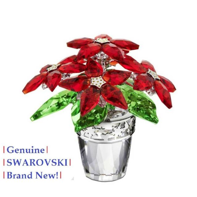 824aa6472 Swarovski Crystal POINSETTIA Large Christmas 1139997 NEW / Mint in Gift Box!