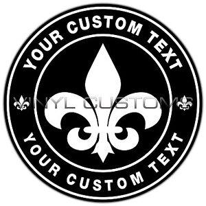 Fleur De Lis Custom Logo Vinyl Decal Sticker EBay - Custom logo vinyl decals