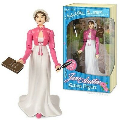 Jane Austen Action Figure With Quill And Book Writers Gag Gift Novelty Fun Toy