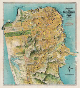 Map-of-San-Francisco-California-1912-August-Chevalier-Art-Print-Vintage-Poster