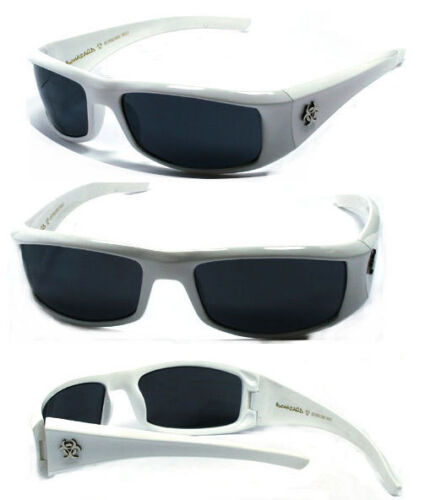 Hot BioHazard Men Designer Sunglasses White// Grey.SFM #BZ01