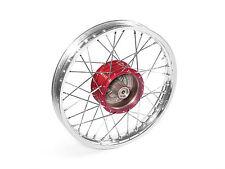 """Raggi ruota 16"""" Mozzo ROSSO Cerchione Lega Di Alluminio SCOOTER CICLOMOTORE S50"""