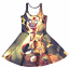 Zombie-Pikachu-Horror-Blood-Pokeball-of-Death-Yellow-Black-Summer-Skater-Dress