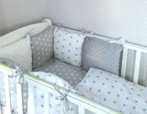 White Grey Minky Sleepy Baby J, Cot Bedding Grey And White Stars