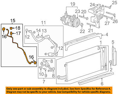 Cadillac GM OEM SRX A//C AC Condenser//Compressor//Line-Air Guide Left 22757057