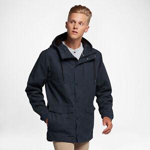 L heren Waterafstotende met Protect Hurley Blauw herenjas voor Casual hoodie ritssluiting Plus volledige XYwFB