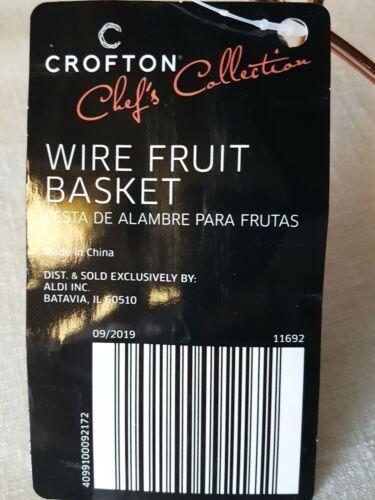 """Crofton Copper Wire Fruit Basket Square Shape 10.5/"""" W x 10.5/"""" D x 3.75/"""" H"""