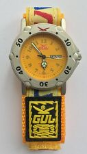 Gul force Fabric Strap Wrist Watch Surf Water Resistant yellow
