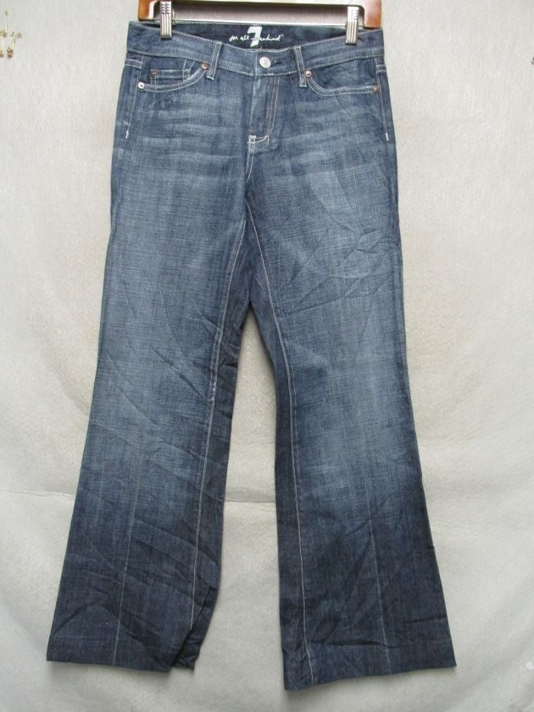 D7460 7 For All Mankind Dojo Killer Fade USA Made Jeans Women's 28x29 Tag 26
