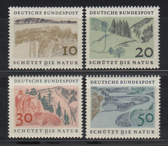 Germany Bund BRD 1969 Mi 591/94 ** Natur Naturschutz Environment Protection