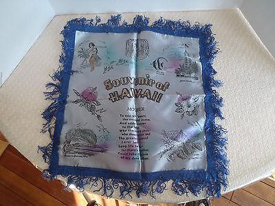 WW 2 Hawaii Hawaiian Islands Army, Navy or Marine Souvenir Sweetheart Pillow