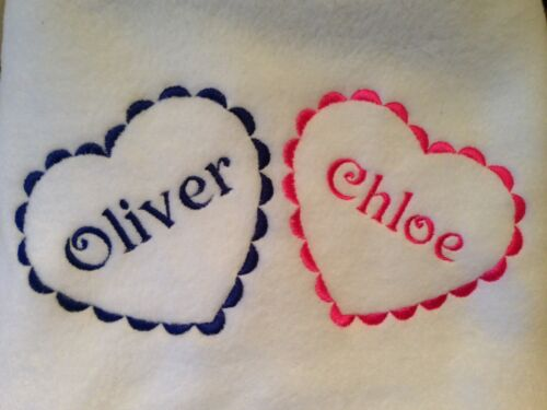 PERSONALISED TWINS BABY BLANKETS ANY NAMES NEW BABY GIFT GIRL BOY CHRISTENING