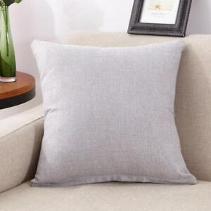 Solid-Cotton-Linen-Taie-d-039-oreiller-canape-taille-Jeter-Coussin-Solid-Cover-Home-Decor