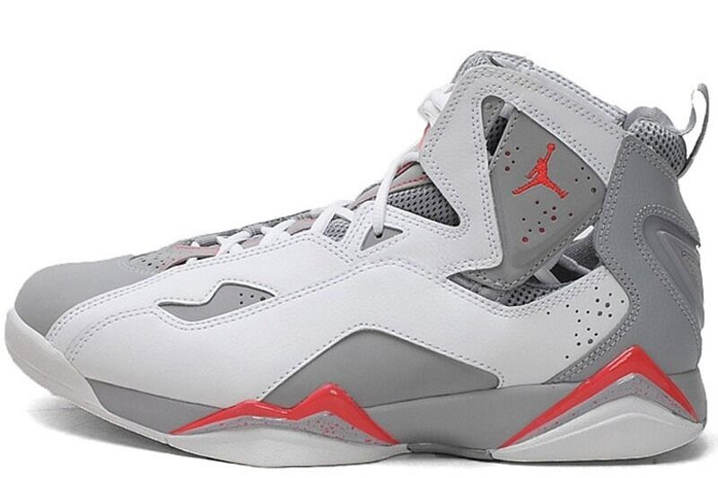 Jordan True Flight White/ Infrared 23-Wolf Grey-White (342964 123)
