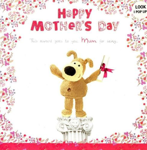 Boofle Pop Up Happy Mother/'s Day Card Cute Range Greeting Cards