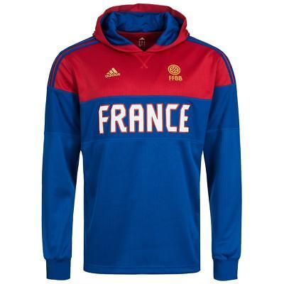 Frankreich adidas Langarm Kapuzen Sweatshirt Basketball Sweat AI6320 Pullover