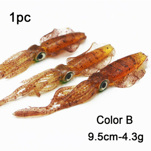 Portable Saltwater Octopus Bait Fishing Tackle Squid Skirt Lure long tail