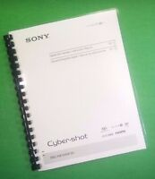 Laser Printed Sony Dsc Hx10 Hx10v Camera 64 Page Owners Manual Guide