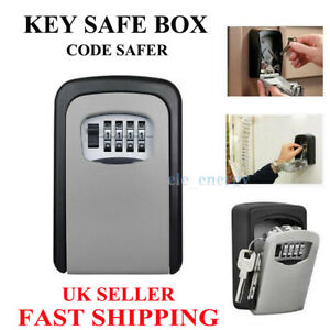 Outdoor Security Wall Mounted Key Safe Box Code Safer Lock Storage 4Digit Useful