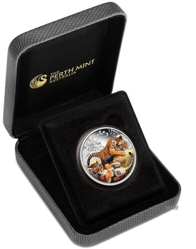 2016 The Tiger Cubs Tuvalu 1//2 oz Silver Proof 50c Half Dollar Coin Colorized