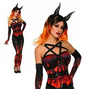 ladies adult devil corset only satan halloween flame hell