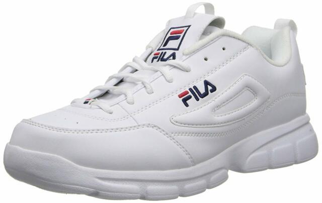 FILA DISRUPTOR SE WHITE NAVY RED 1SX60022 166 MENS US SIZES