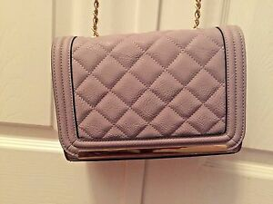 55289136614 Image is loading Aldo-Ponteranica-Cross-Body-Quilted-Gold-Solid-Interior-