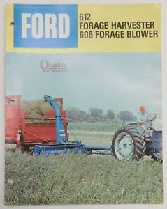 Details about Ford 612 Forage Harvester 606 Forage Blower Brochure
