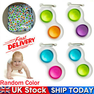 Simple Dimple Sensory Toys-Silicone Flipping Board Brain Teasers Best Gift Child