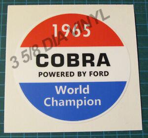 SHELBY-AMERICAN-INC-1965-COBRA-WORLD-CHAMPION-VINYL-STICKER-DECAL-SCCA-RACING