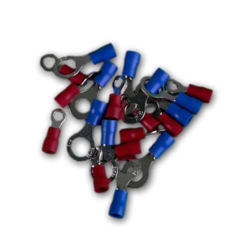 20er set ringöhsen//cosses isolé rouge /& bleu câble ringkabelschuh